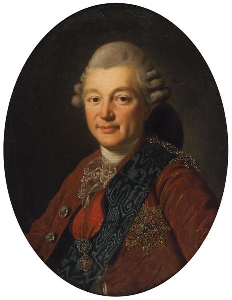Рослен Александр (1718—1793) «Портрет графа А.С. Строганова». 1770-е—1780-е. Холст, масло, 64 х 48 см (овал).