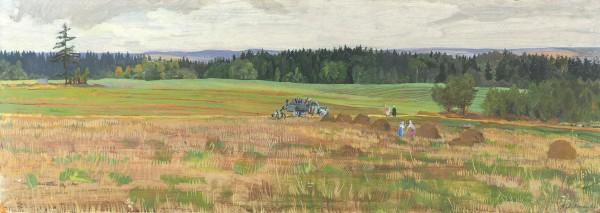 Лившиц Татьяна Исааковна (1925—2010) «Сентябрь». 1966. Картон, темпера, 25 х 69,8 см.