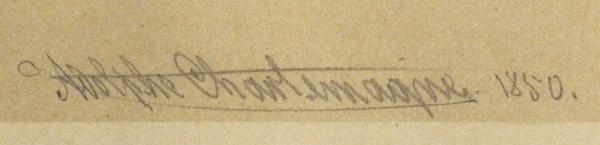 Шарлемань (Charlemagne) Адольф Иосифович (1826—1901) Макет павильона на Русском базаре, устроенном Женским патриотическим обществом в 1850-м году. 1850. Бумага, графитный карандаш, акварель, белила, 34 х 44 см (в свету).