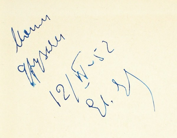 [Первая книга с автографом автора] Евтушенко, Е. Разведчики грядущего. Книга стихов. М.: Советский писатель, 1952.