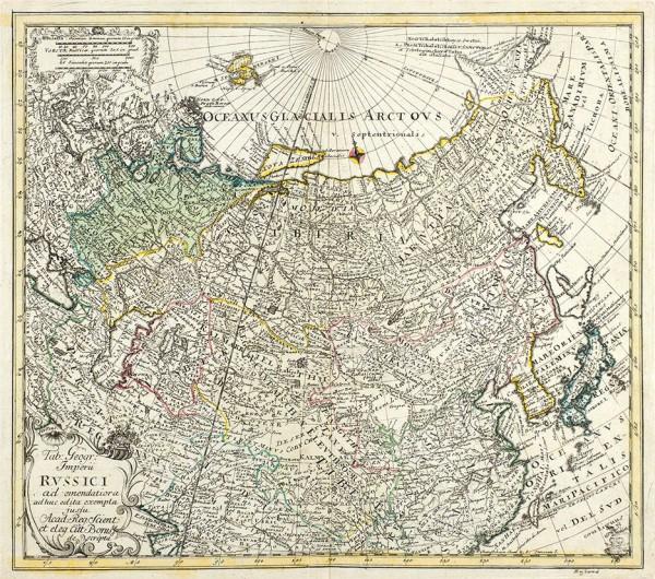 Карта Российской Империи [Imperii Russici ad emendatior ad huc edita exempla jusfu (…)] Сер. XVIII в.