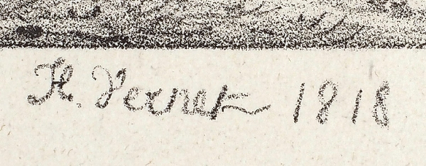 Верне Орас (Emile Jean Horace Vernet) (1789—1863) «Дон Кихот». 1818. Бумага, литография, 26,8 х 36 см (лист), 13,4 х 17,2 см (оттиск).