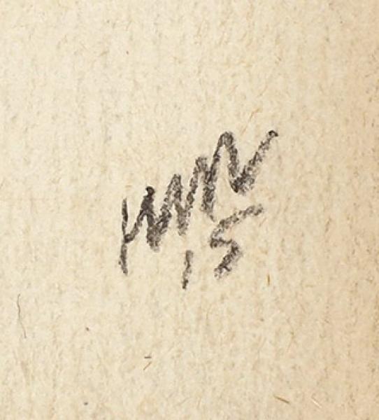 Тырса Николай Александрович (1887–1942) «Дама в широкополой шляпке». 1915. Бумага, графитный карандаш, акварель, 17,3 х 10 см.