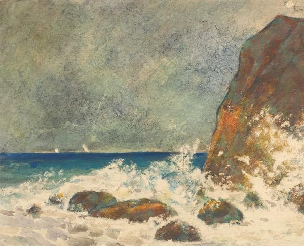 Шевченко Александр Васильевич (1883—1948) «Крым. Отуз». 1926. Бумага, акварель, 18,6 х 23 см.