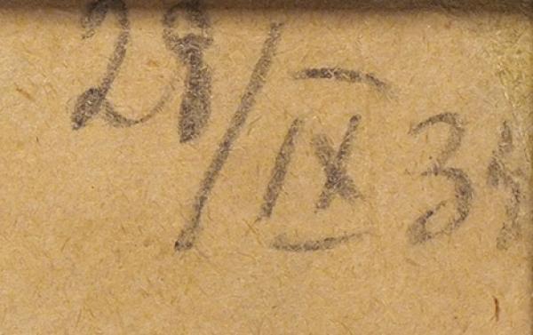 Ушин Николай Алексеевич (1898–1942) «Женский портрет». 1934. Бумага, графитный карандаш, сангина, пастель, 59,2 х 44 см.