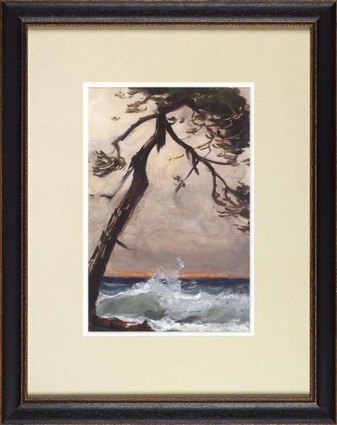 Барто Ростислав Николаевич (1902–1974) «Сосна у моря». 1950-е. Бумага, смешанная техника, 27,5 х 18 см (в свету).