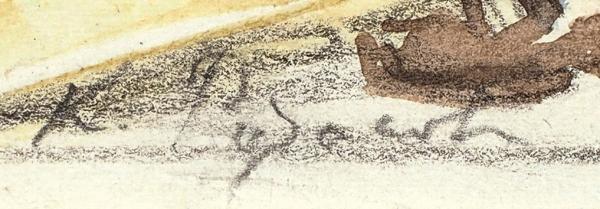 Рудаков Константин Иванович (1891–1949) Эскиз иллюстрации к сказке Ш. Перро «Ослиная шкура». 1930-е. Бумага, графитный карандаш, акварель, 19 х 14,7 см.