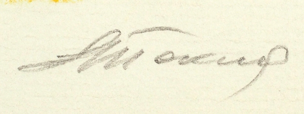 Токмаков Лев Александрович (1928—2010) Иллюстрация к книге «Сказки народов мира». 1990. Бумага, смешанная техника, 25,1 х 37,5 см.