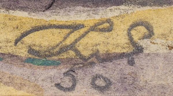 Елисеев Константин Степанович (1890—1968) «Работники отдела благоустройства на прогулке». Иллюстрация для журнала «Крокодил». 1950. Бумага, графитный карандаш, тушь, перо, акварель, белила, 28,5 х 47 см.