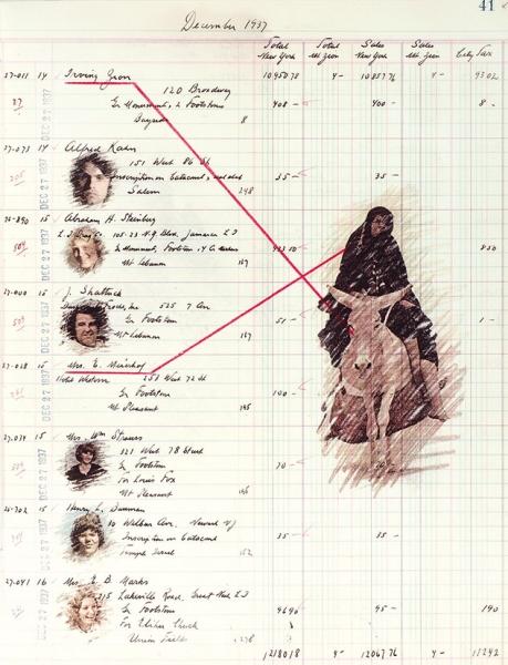 [Самиздат в одном экземпляре с 54-мя цветными иллюстрациями] Бахчанян, В. Гроссбух 5 [Ledger 5. На анг. яз.]. Нью-Йорк, 1977.