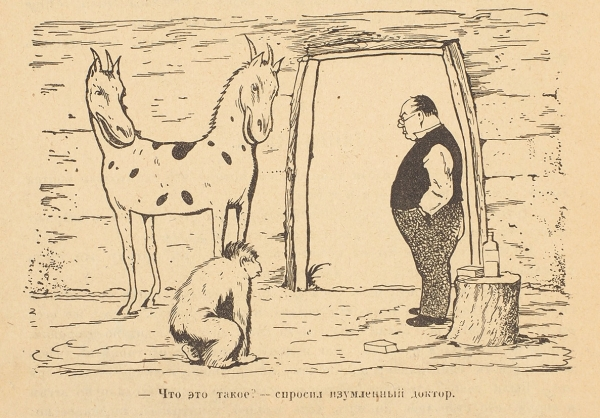 [Чуковский - плагиатор?] Лофтинг, Г. Доктор Айболит. Для маленьких детей пересказал К. Чуковский / рис. Е. Белухи. Л.: Госиздат, 1925.