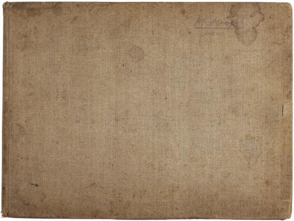 Лебедев, Клавдий. Альбом с эскизами. Вторая половина XIX века. 68 листов карандашных эскизов. 30 х 22 см.