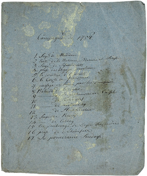 Комплект из 17 планов и карт, относящихся до Семилетней войны. «Кампания 1758 года». Сер. XVIII в.