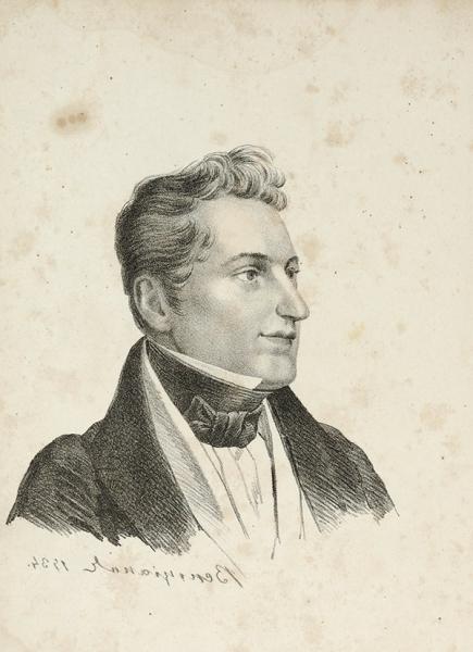 [Известен лишь в нескольких экземплярах] Венецианов, А.Г. Литографированный портрет Н.В. Гоголя. [1834].