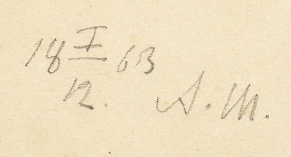 Шарлемань (Charlemagne) Адольф Иосифович (1826–1901) «Польские агитаторы среди русских крестьян». 1863. Бумага, графитный карандаш, 29,5×22,1 см.