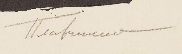 Плавинский Дмитрий Петрович (1937–2012) «Ева». Конец ХХ века. Бумага, линогравюра, 67,5 х 49,8 см.