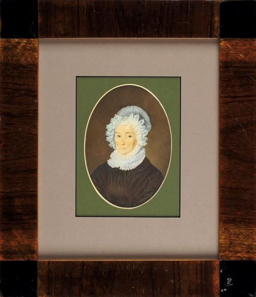 Неизвестный художник «Женский портрет». Середина XIX века. Бумага, графитный карандаш, акварель, 13,5 х 10 см (овал).