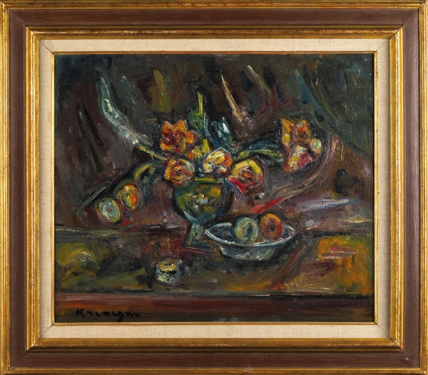 Кремень Пинхус (1890–1981) «Натюрморт». 1930. Холст, масло, 46 х 55 см.