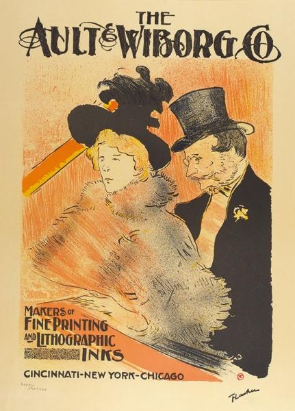 Тулуз-Лотрек Анри де (Henri de Toulouse Lautrec) (1864—1901) Рекламный плакат компании «Ault & Wiborg Co.». 1950-е (по оригиналу начала ХХ века). Бумага, литография, 69 х 50 см (в свету).