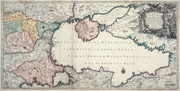 Карта Черного моря иКрыма М. Зойтера. 1730-е гг.