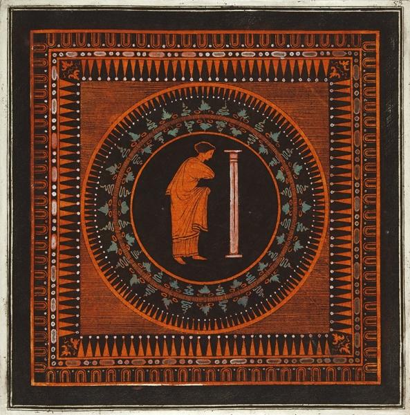 Pierre Francois Hughues d'Harcanvilles (1719-1805) Два листа изсерии «Collection ofEtruscan, Greek and Roman Antiquites». 1766. Бумага, офорт, акварель, белила, 47,8×36см (листы), 21,2×20,8см (оттиски).