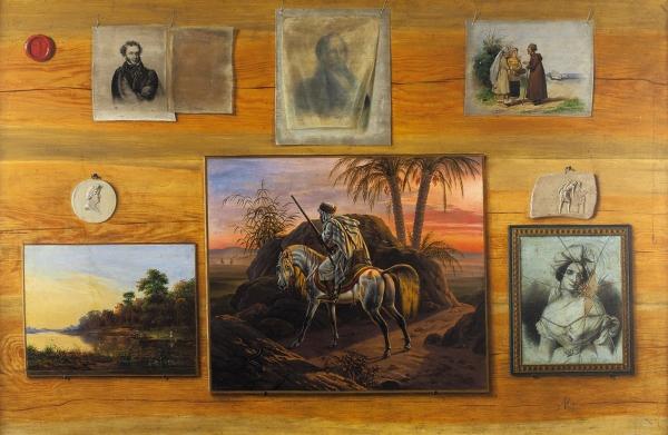 Корин Алексей Михайлович (1865–1923) «Обманка». 1880-е-1890-е. Дерево, масло, 69,5x107см.