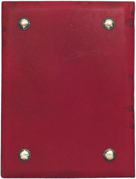 Бювар (папка для бумаг) ссеребряной накладкой. Начало ХХвека. Кожа, серебро, ткань, золочение, 35,5×27см.