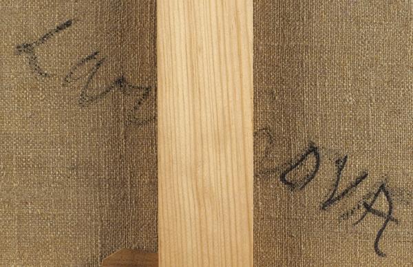 Гончарова Наталия Сергеевна (1881–1962) «Комната вимении Гончаровых Полотняный завод». 1907. Холст, масло, 40×50см.