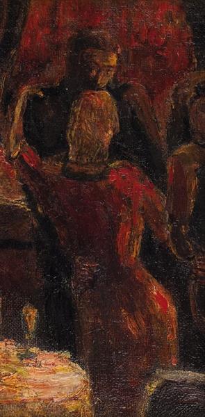 Репин Илья Ефимович (1844–1930) «Танец». 1910-е. Холст, масло, 20,7x10,2см.