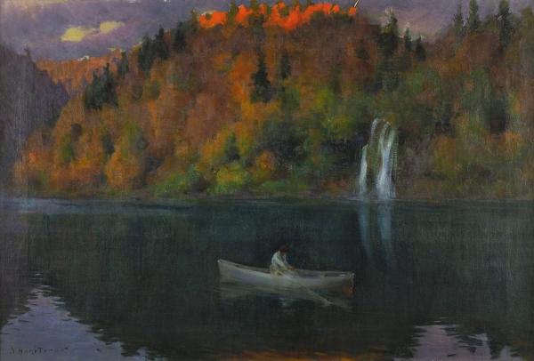 Харитонов Николай Васильевич (1880–1944) «Вечер». 1920-е-1930-е. Холст, масло, 47×70см.