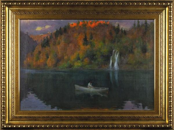 Харитонов Николай Васильевич (1880–1944) «Вечер». 1920-е-1930-е. Холст, масло, 47x70см.