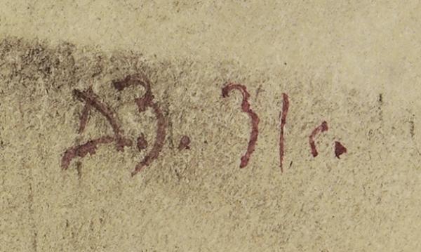 Зусман Леонид Павлович (1906–1984) Эскиз костюма.1931. Бумага набумаге, графитный карандаш, тушь, акварель, 41,8x29,8см.