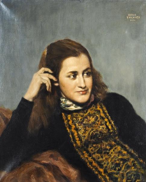 Иванов Сергей Петрович (1893–1983) «Женский портрет». Вторая четвертьХХ века. Холст, масло, 60×50,5см.