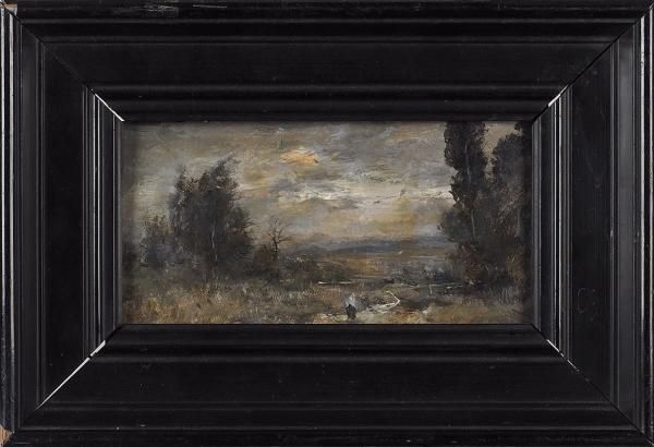 Барто Ростислав Николаевич (1902–1974) «Пейзаж». 1954. Картон, масло, 9×17см.