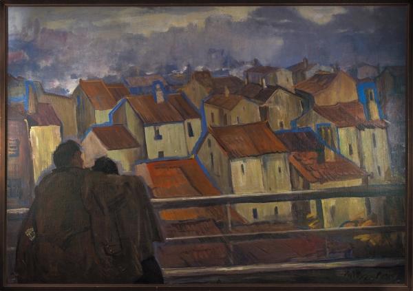 [139x199см!] Уфимцев Виктор Иванович (1899–1964) «Крыши Парижа». 1960-1961. Холст, масло, 139x199см.