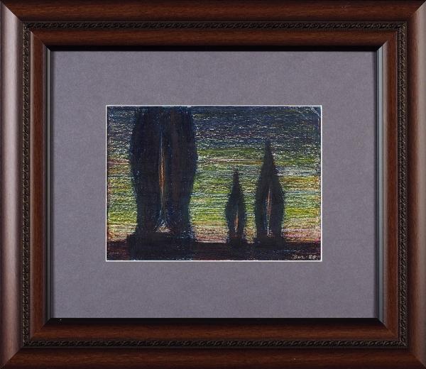 Вечтомов Николай Евгеньевич (1923–2007) «Пейзаж». 1980. Бумага, пастель, 12×17см (всвету).