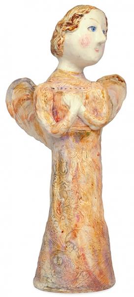 Кузнецова Валентина Георгиевна (род.1949) «Ангел». 2012. Керамика, роспись. Высота37,1см.