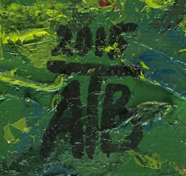 Аганина Татьяна. «Москва. Скрыши дома». 2015. Холст накартоне, масло, мастихин. 35×50см.
