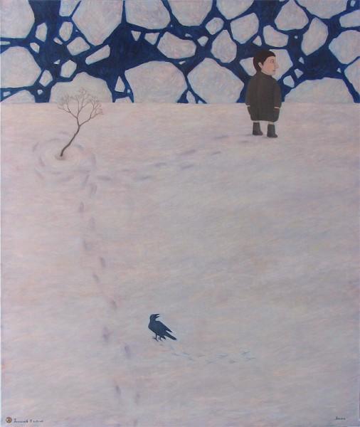 Антонов Роман. «Весна». 2012. Холст, масло. 100×120см. Враме— 101,2×121,2см.