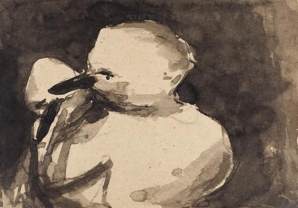 Батынков Константин. «Дейнека. Мать». Лист изсерии «Забытые рисунки мастеров». 2001. Бумага, тушь.20,6×29,5см.