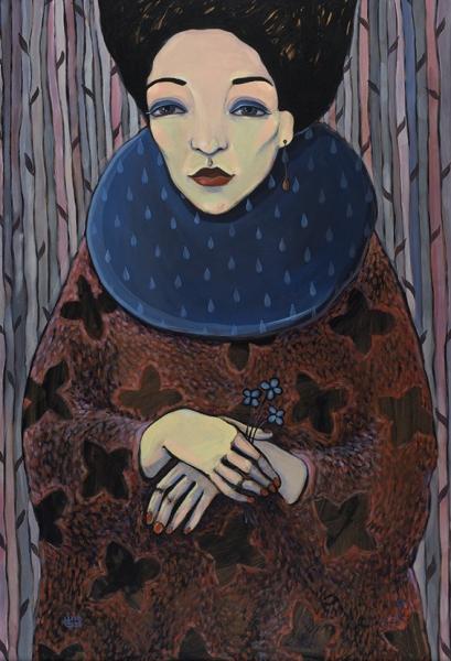Позитивная Зинаида. «She. Удача». Изсерии «She». 2016. Фанера, акрил. 94×64см. Враме— 99×69см.