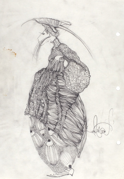 Радкевич Павел. «Карандашик». 2003. Бумага, графитный карандаш, 29,7×21см.