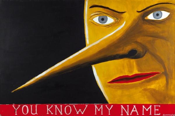 Сергеев Алексей. «You know myname». 2007. Холст, акрил. 60×90см. Наподрамнике.