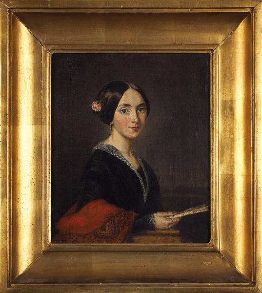 Рачков Николай Ефимович (1825–1895) «Женский портрет». 1871. Холст, масло, 36,5×28,5см.