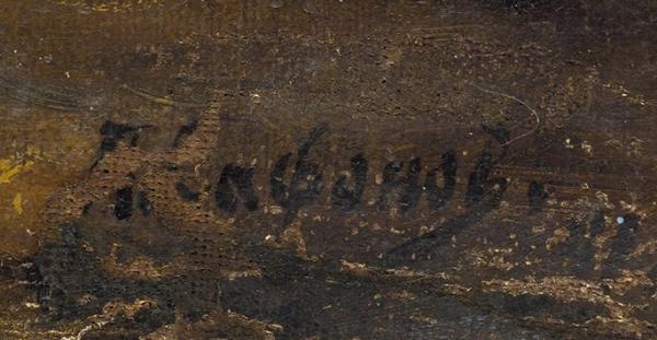 Сафонов П. «После работы». 1891. Холст, масло, 80,7×62,7см.