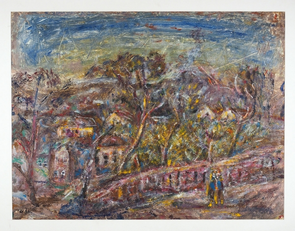 Зейтман Исай Михайлович (1899–1996) «Феодосия. Осень». 1966. Клеенка, масло, 71×54см.