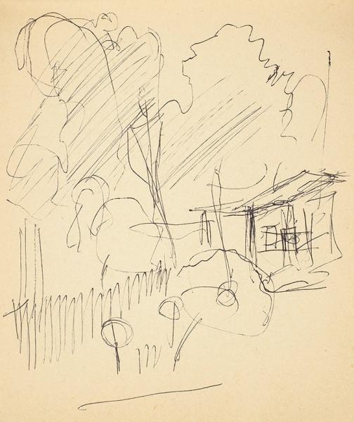 Лабас Александр Аркадьевич (1900–1983) Альбом зарисовок. 1960-е—1970-е. Бумага, смешанная техника, 14,5×20см (размер альбома).