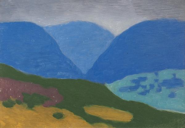 Ратнер Владислав Исаакович (1926–2002) «Пейзаж». 1989. Картон, масло, 33×48см.