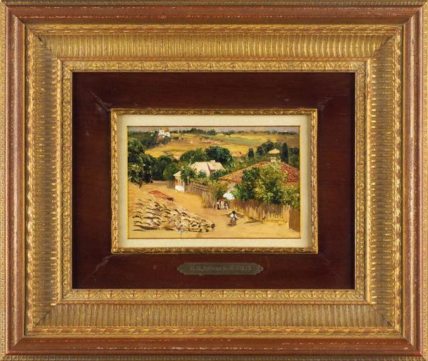 Дубовской Николай Никанорович (1859–1918) «ВРени близ Галаца». 1893. Бумага накартоне, масло, 10,6×16,9см.