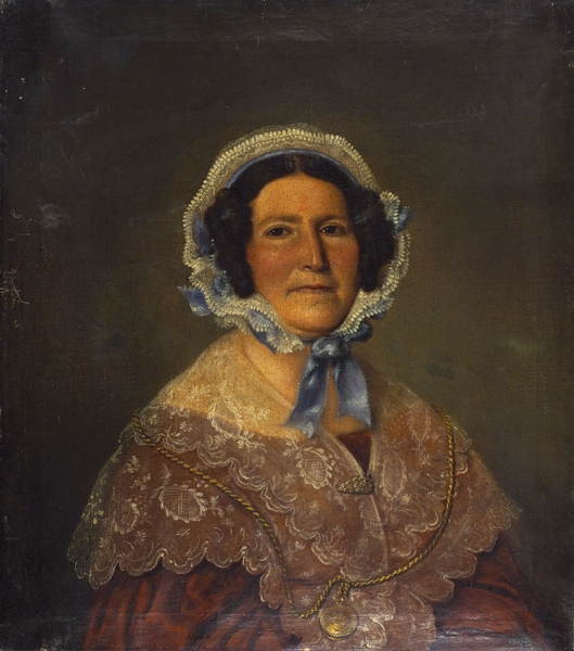 Неизвестный художник «Женский портрет». Первая половина XIXвека. Холст, масло, 65,5×58см.